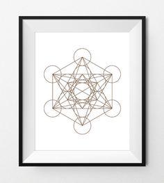 Digital Print Art   METATRON CUBE ART  Geometric by FlavoreePrints
