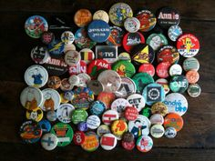 Retro Vintage Pins Buttons / Huge Lot / English by EnglishShop, $45.00