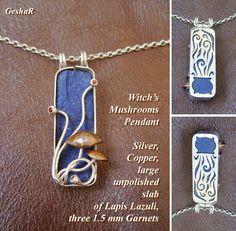 Witch's Mushrooms pendant by GeshaR.deviantart.com on @DeviantArt