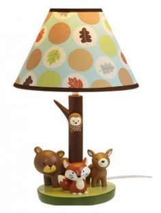 Woodland, nature, forest animal baby room decor with foxes, owls, bunnies, and bears
