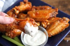 Hot Wings via Brittany's Pantry-A little spicy, a little sweet, and a little tangy.  Truly the BEST chicken wing sauce EVER!  Can't. Stop. Eating them!!!