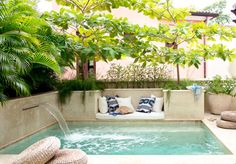 outdoor oasis backyard with pool / outdoor oasis . outdoor oasis on a budget . outdoor oasis backyard with pool . outdoor oasis backyard on a budget . outdoor oasis on a budget diy ideas . Jacuzzi, Small Pool Design, Small Pools, Small Backyards, Garden Tub, Dream Pools, Country House Plans, Small Patio, Pool Landscaping
