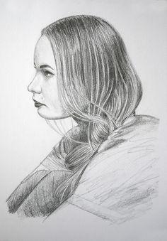 17. septembra 2014. dievča. portrét. ceruzka a grafitová tuha.