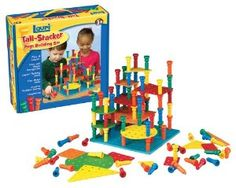Amazon.com : Lauri Tall-Stacker Pegs Building Set : Sorting And Stacking Baby Toys : Toys & Games
