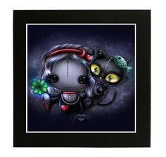 Lucky Clover - part of The Frightlings collection. Check out the site yourself, lots of cute art, jewellery and t-shirts of the different characters :)