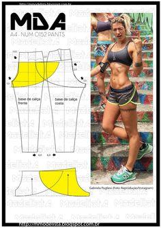 New clothes diy pants shorts 59 ideas Sewing Pants, Sewing Clothes, Dress Sewing Patterns, Clothing Patterns, Pattern Sewing, Pattern Cutting, Fashion Sewing, Diy Fashion, Fashion Black