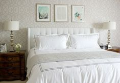 Serene master bedroom | The Decor Fix... good advice on how to restyle a room.