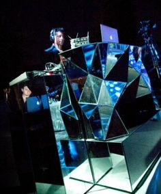 mirrored dj booth