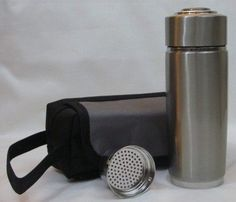 2 Pack Silver Alkaline Energy Flask Ionizer Water Bottle Ion Cup with Cases NEW -- Check this awesome product by going to the link at the image.