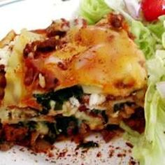 This is a traditional baked lasagna that is a favorite in our family. ground beef, cottage cheese, and mozzarella make it rich and filling.