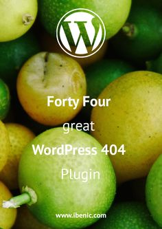 Read about Forty Four, a great WordPress 404 plugin. You can easily create fast and beautiful 404 pages. This plugin enables you to redirect visitors on particular faulty URLs :) Click here to read my review of this plugin.
