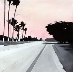 Jay Bower - Is this LA ?, Acrylic on canvas, Jay, Sidewalk, Canvas, Collection, Tela, Side Walkway, Walkway, Canvases, Walkways
