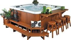 bullfrog hot tub steps bar planters | Step 2 Crown Planters 1 Corner Step 1 Bar 4 Barstools 1 Corner Bench ...