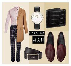 """leading man"" by noaddict ❤ liked on Polyvore featuring Giorgio Armani, Vito, Galet, Daniel Wellington, River Island, BOSS Hugo Boss, Prada, men's fashion, menswear and patentleather"