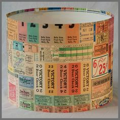 Tickets Please! - Vintage Style Lampshade