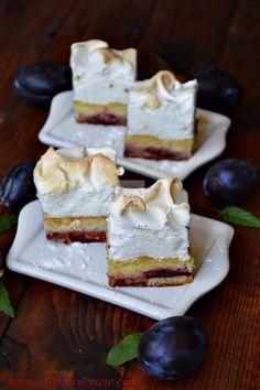 Prajitura Krem a la Krem Romanian Desserts, Romanian Food, Romanian Recipes, Cake Recipes, Dessert Recipes, Plum Cake, Food Cakes, Coco, Bakery