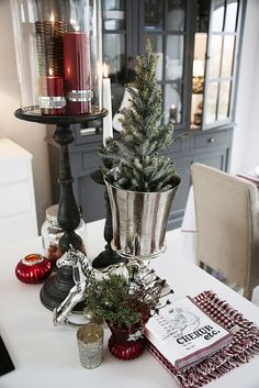 #LeneBjerre #CHRISTMAS2013   BASIC and #WICKER candles, GERDA #hurricane, SERAFINA rocking horse, CAROL paper napkins, #CHRISTMAS PINE #christmastree and MISTY #centrepiece.