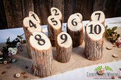 Hey, I found this really awesome Etsy listing at https://www.etsy.com/listing/207618276/rustic-wedding-table-numbers-juniper-log