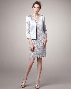 Satin Jacket and Lace Dress - (Tahari) Newest item to my wardrobe.