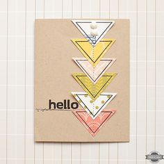 Hello Card by maggie holmes at Studio Calico