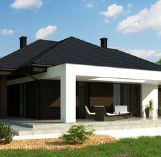 Z282 to wyjątkowy dom z kategorii projekty domów do 140 m2 Modern House Plans, Design Case, Gazebo, Outdoor Structures, Outdoor Decor, Home Decor, Houses, Projects, Modern Home Plans