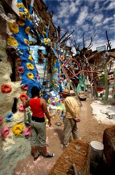 Salvation Mountain off the Salton Sea in Southern CA