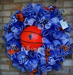 XL Wreath UK Basketball 28Lx28Wx10D by TheWhimzeeDoor on Etsy