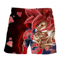 DBZ Son Goku Super Saiyan Red Hair God Dope Style Shorts    #DBZ #SonGoku #SuperSaiyan #RedHair #God #DopeStyle #Shorts