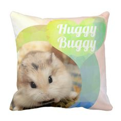 HammyVille - Cute Hamster Heart Huggy Buggy Throw Pillow - create your own personalize Diy Pillows, Custom Pillows, Decorative Throw Pillows, Cute Hamsters, Diy Funny, Cool Gifts, Customized Gifts, Cute Animals, Pets