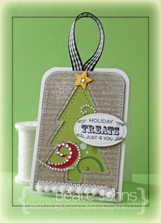 Holiday Treat Tag by Beate - Cards and Paper Crafts at Splitcoaststampers