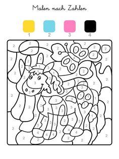 Felder Mit Der Zahl 1 Werden Gelb 2 Hellblau Malen Nach
