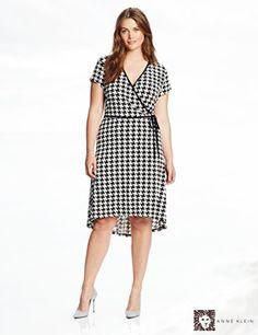 Anne Klein Women's Plus-Size Houndstooth Print Dress