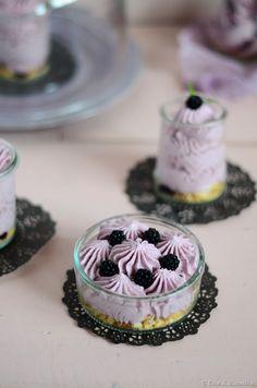 Blackberry mascarpone cheesecakes