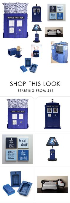"""Doctor Who Bedroom!"" by tardis3254 on Polyvore featuring interior, interiors, interior design, home, home decor, interior decorating, ThinkGeek and bedroom"
