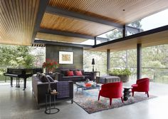 House Tour: Modern Furniture Meets Playful Design Inside A Mexican Tree House (see the house on Homes/Architecture Board)