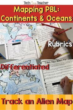 Track aliens across every continent and ocean! Just where are those aliens hiding? This Project Based Learning (PBL) activity is a great resource for assessing your students' knowledge of continents, oceans, and mapping skills in your Social Studies class Ocean Activities, Spring Activities, Language Activities, Classroom Activities, Christmas Activities, Classroom Ideas, Social Studies Classroom, Social Studies Activities, Teaching Social Studies
