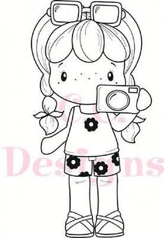 "C.C. Designs Swiss Pixie ""Camera Birgitta"" Rubber Stamp"