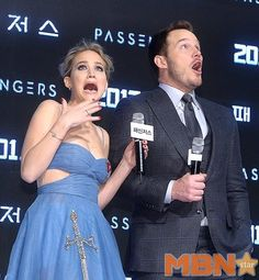 Jennifer Lawrence & Chris Pratt at the #Passengers Premiere in Seoul, South-Korea