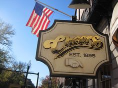 """Cheers Bar in Boston Massachusetts """"Where Everybody Knows Your Name"""" by RYANISLAND, via Flickr  A GREAT PLACE FOR LUNCH"""