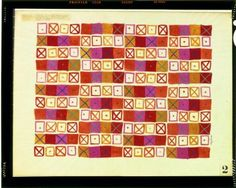 Crosspatch, a fabric design by Ray Eames