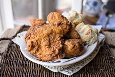 """""""Colonel Cozy's"""" Double-Dredged, Extra Crispy, Buttermilk Fried Chicken with 12 Herbs & Spices"""
