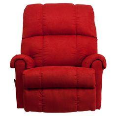 Flash Furniture Contemporary Flatsuede Red Rock Microfiber Home Rocker Recliner #FlashFurniture #RockerRecliner