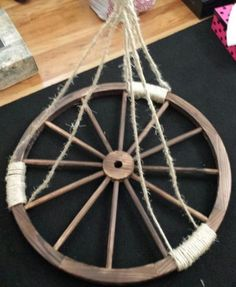 Make your own wagon wheel chandelier
