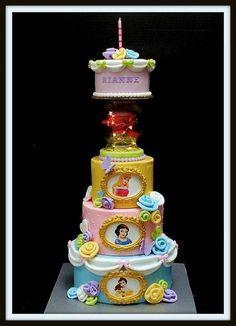 Disney Princess tiered cake