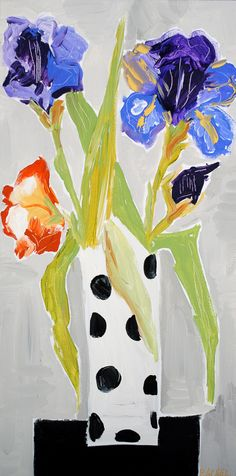 """Iris"" flower painting  by:Rachel Cordaro"
