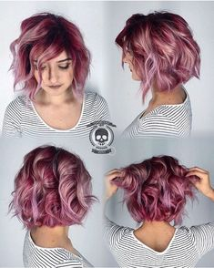 berry blush hair