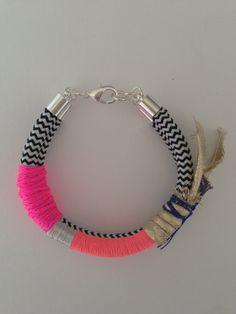 Eternal Flame bracelet neon pink on Etsy, $39.00 AUD