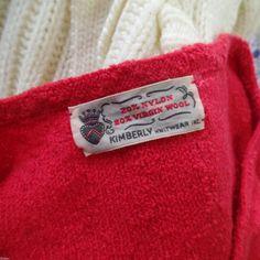 Vintage 40s Crimson Red Kimberly Knits Knitwear Light Wool Skirt Set Dress S | eBay