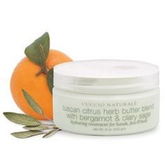 Cuccio Tuscan Citrus Herb Butter Blend with Bergamot  Clary Sag 8oz by Cuccio. $13.26. cuccio butter blend. tuscan citrus. A non-oily, intense hydrating treatment for silky smooth skin. Extracts from orange and clary sage have nourishing and soothing properties. Client Home Maintenance: Use daily on hands, feet and body