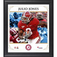 Julio Jones Alabama Crimson Tide Framed 15'' x 17'' Core Composite Photograph